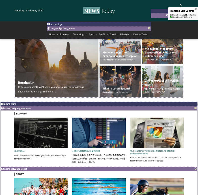 Newspaper website built with SCHLIX CMS